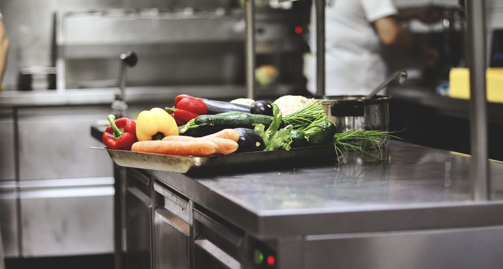 work in the kitchen