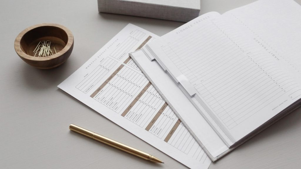 new business, paper-financial-tracker